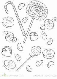 Stylish Design Ideas Candy Coloring Pages Free For Kids
