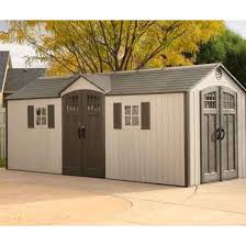 Home Depot Storage Sheds 8x10 by Lifetime Outdoor Storage Shed 60127 20x8 Dual Entry Sheds