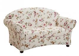 sofa 2 sitzer landhaus weiß floral blumen muster romantisch rücken echt lanatura