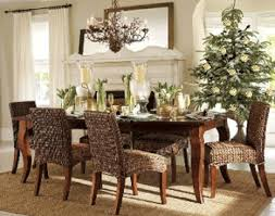 Natural Green Beige Gold And Brown Dining Room Decorating Ideas Winter Holiday Style