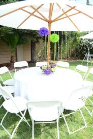 Patio Tablecloth With Umbrella Hole by Outdoor Tablecloths For Umbrella Tables