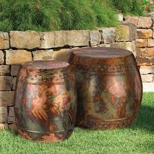 Flamed Copper Garden Stools & Planters Set of 2 only $224 99 at