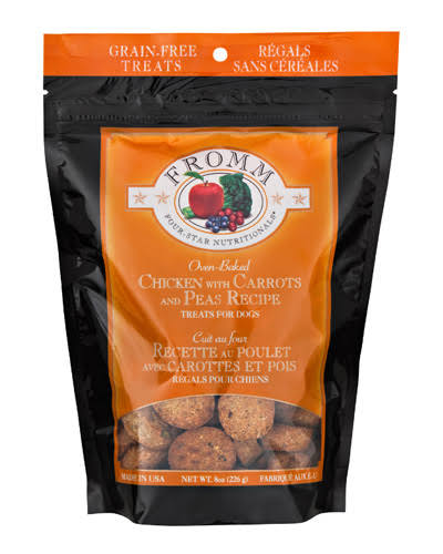 Fromm Four-Star Grain-Free Dog Treats - Chicken with Carrots and Peas, 8oz