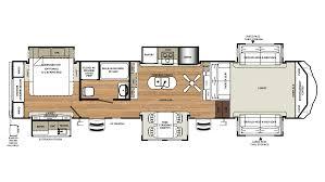 R Pod Camper Floor Plans by 2018 Forest River Sandpiper 379flok Model