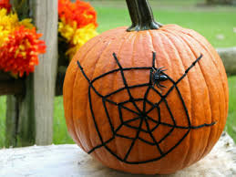 Halloween Decoration Spider Web Pumpkin Howtos DIY