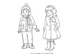Clothes Coloring Pages Winter Colouring Page Free