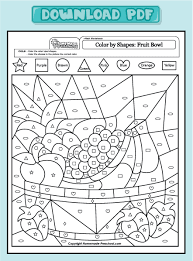 Fruit Color Page Fruits Coloring Pages Plate Sheet