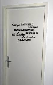 türaufkleber wc türe badezimmer küche kinderzimmer