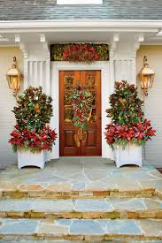 Outdoor Christmas Decorations Ideas Pinterest by 179 Best Holiday Front Doors Images On Pinterest Merry Christmas