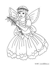 Fairy Leaf Dress Flower Coloring Page