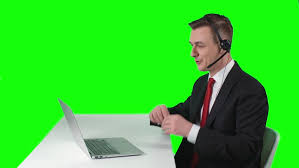 Stock Video Of Tv Reporter Sitting At Desk In