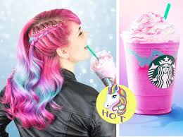 Starbucks Just Launched A New Menu Pink Rainbow Color Unicorn Frappuccino Which Is Currently Viral In Social World