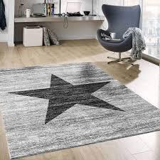 muster teppich meliert in grau schwarz stylish