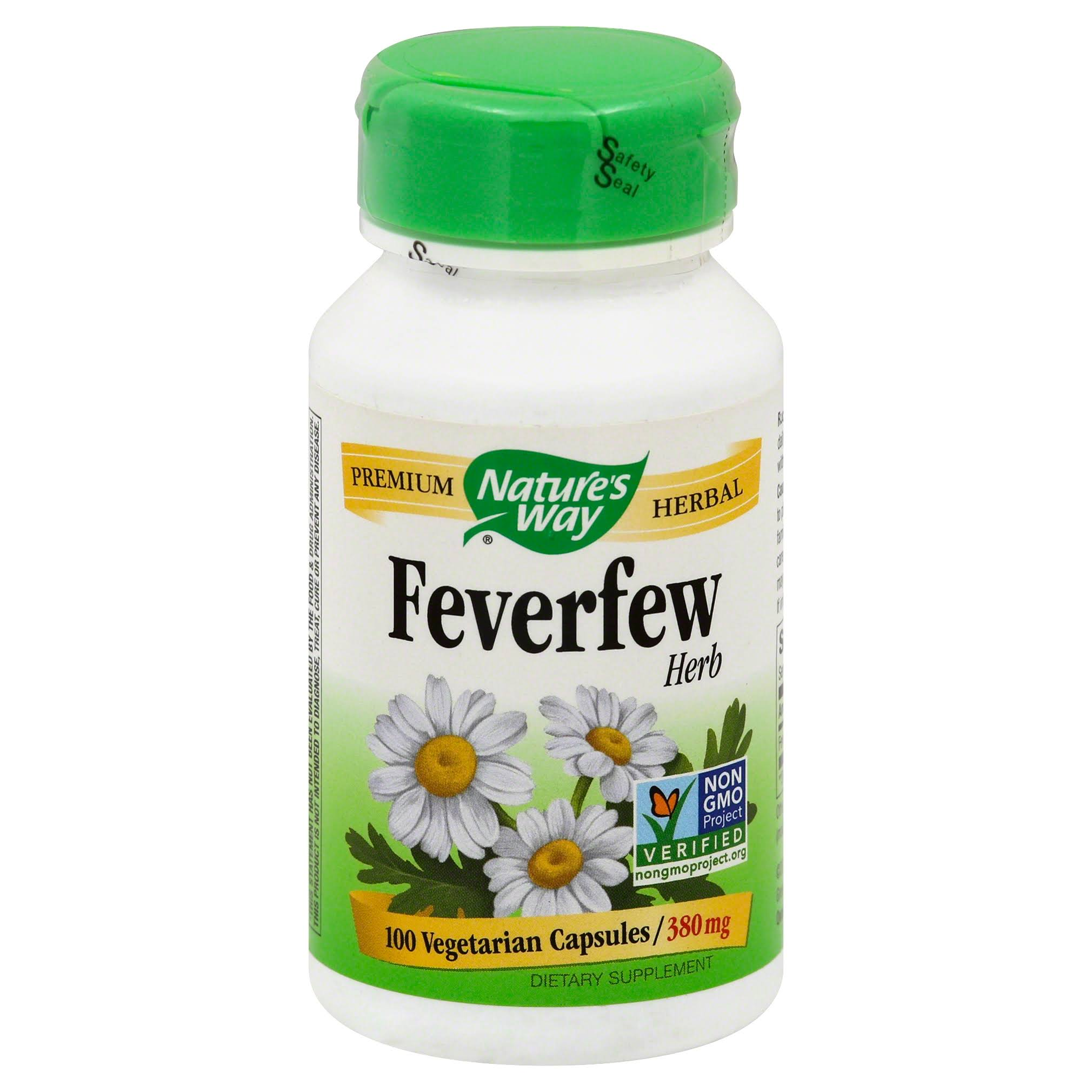 Natures Way Feverfew Leaves - 380mg, x100