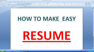 HOW TO MAKE AN SIMPLE RESUME IN MICROSOFT WORD - YouTube How To Make A Resume With Microsoft Word 2010 Youtube To Create In Wdtutorial Make A Creative Resume In Word 46 Professional On Bio Letter Format 7 Tjfs On Microsoft Sazakmouldingsco 99 Experience Office Wwwautoalbuminfo With 3 Sample Rumes Certificate Of Conformity Template Junior An Easy