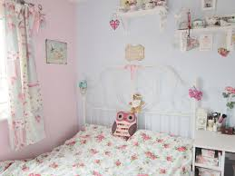 Pastel Blue And Pink Vintage Style Bedroom Ideas For Girl With