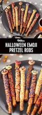 Halloween Pretzel Rod Treats by Served Up With Love Halloween Chocolate Covered Pretzels Sweet