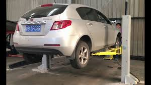 2 Post Car Lift Low Ceiling by Movable Two Columns 2 Post Hydraulic Auto Smart Car Lift Vehicle