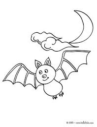 Bat Wink Flying Under The Moonlight Coloring Page