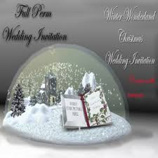 FULL PERM Winter Wonderland Wedding Invitation BOXED