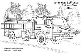 11 Dessins De Coloriage Camion Pompier à Imprimer
