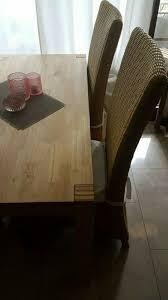 4 esszimmer stühle stuhl korbstühle korb essecke auflagen