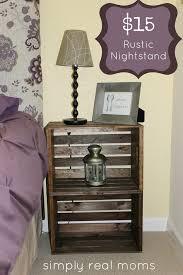 Creative Repurposed Rustic DIY Nightstand