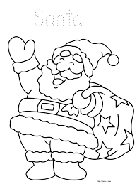 Santa Coloring Page Kids Christmas Book For Sheets