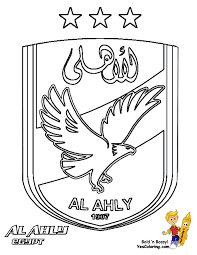 Coloring Pages Book For Kids Boys Images CAF 01 Al Ahly Football Soccer Futbol At