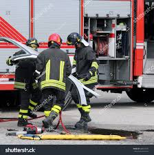 100 Fire Truck Parts Firefighters During A Road Accident With Car Parts And The Firetruck