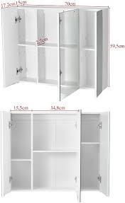 badezimmerschrank weiß einsetzbares badregal mit 4 etagen