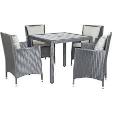 Woven Dining Room Chairs The Set Features A Square Table And 4 Arm