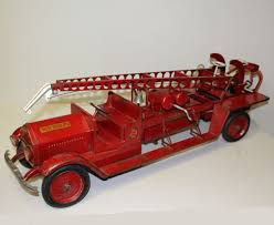 100 Metal Fire Truck Toy Bargain Johns Antiques Water Tower 9 Sturdy S