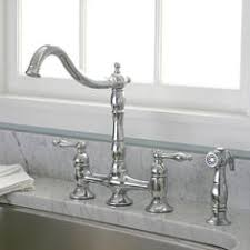 2 Handle Kitchen Faucet With Spray by Bellevue Bridge Kitchen Faucet With Brass Sprayer Lever Handles