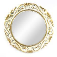 mit rahmen gold ovaler spiegel zum aufhängen bad