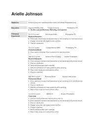 Resume Objective For Promotion Examples