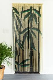 Natural Bamboo Beaded Door Curtain by Hanging Door Curtains Home Gift Earthbound Trading Co