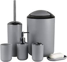 badezimmer zubehör iamuq neuen 6 pcs kunststoff badezimmer zubehör sets zahnbürstenhalter seifenspender seifenschale wc bürste und