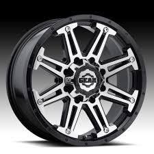 100 Gear Truck Wheels Alloy 741MB Mechanic Machined Black Custom Rims