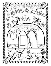 Happy Campers Coloring Book Blank Page By Thaneeya More