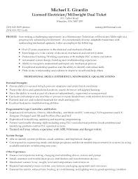 Sample Resume Leadership Qualities Combined With Millwright For Maintenance Technician Resumes Sales Or