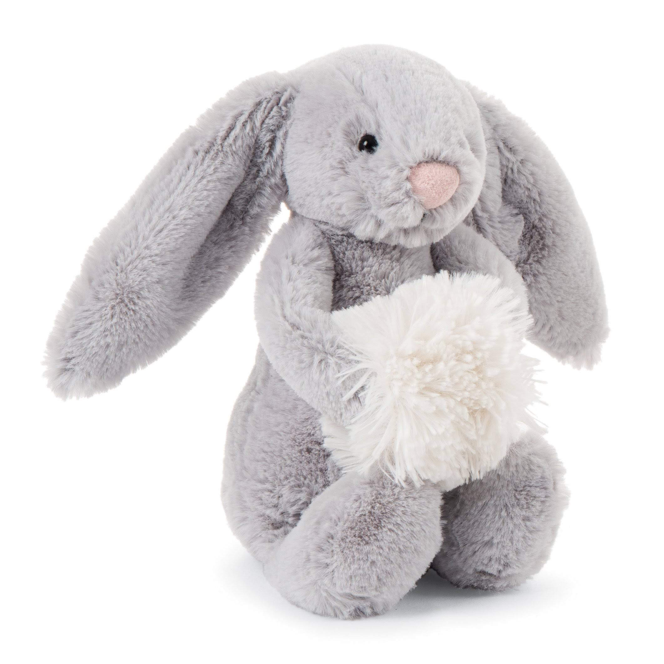 Jellycat Bashful Grey Snow Bunny Small
