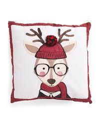 Tj Maxx Christmas Throw Pillows by Kids 18x18 Flange Hipster Deer Pillow Holiday Decor T J Maxx