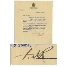 Franklin D Roosevelt 1930 Typed Letter Signed As Governor Of New