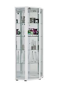 led retail lockable corner glass display cabinets led light and