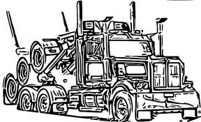 11 Images Of Logging Truck Coloring Pages