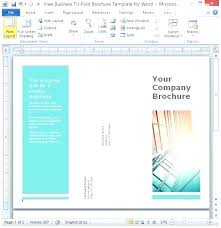 Brochure Template Word Free Business Fold For Templates Ms 2010 Cd Label