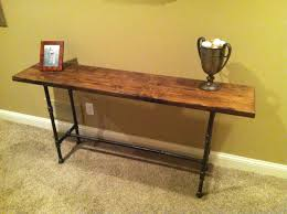 reclaimed distressed wood black iron pipe table for my room