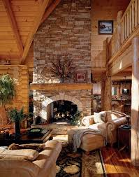 40 Rustic Country Cabin With A Stone Fireplace For Romantic Get Away 11