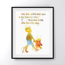 Winnie The Pooh Quotes Pooh by Winnie The Pooh And Christopher Robin Quote Art Print Poster